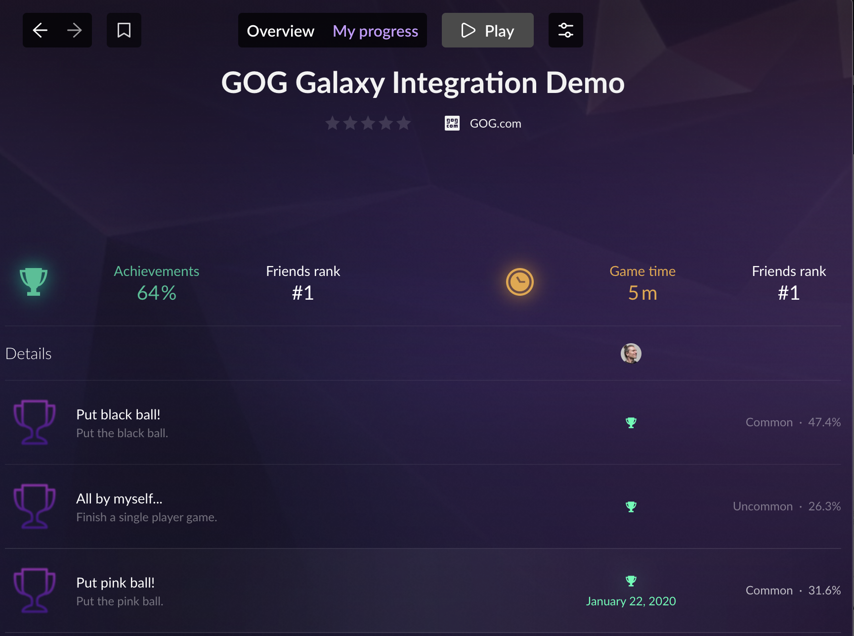 GOG GALAXY Client Achievements