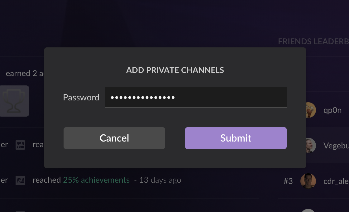 Channel Password